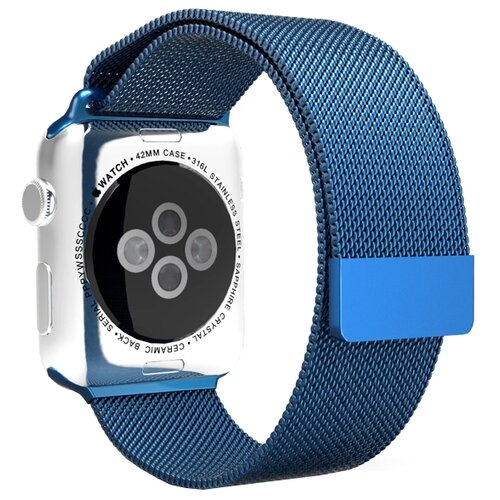 Mokka Ремешок Milanese Loop для Apple Watch 42/44mm Midnight blue