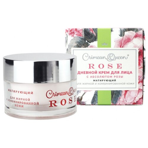 Фото - Crimean Queen Rose Крем для лица дневной с абсолютом розы Матирующий для жирной и комбинированной кожи, 50 г матирующий дневной крем для жирной и проблемной кожи лица 60 мл