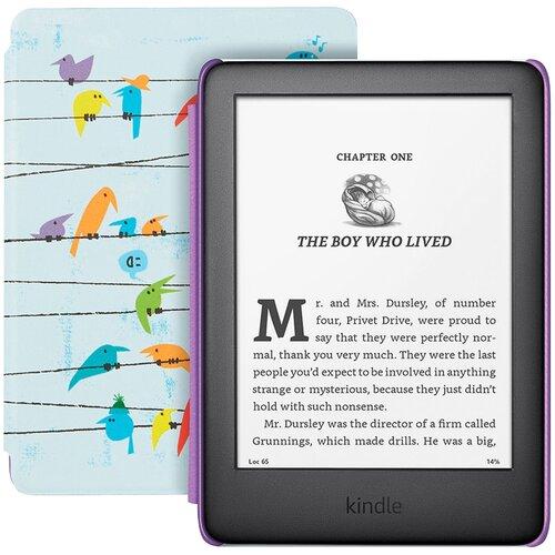 Электронная книга Amazon Kindle 2019 Kids Edition 8 ГБ радужные птички