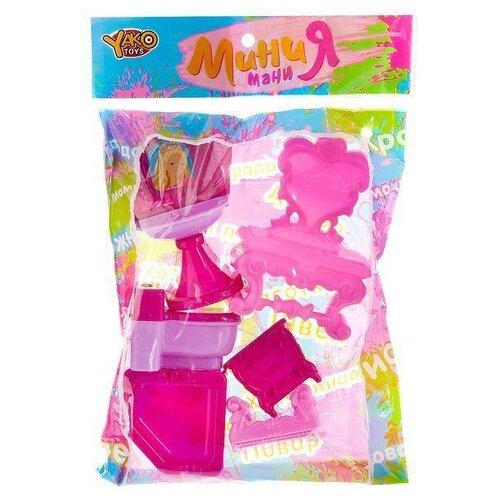 Купить Yako Ванная Мини-мания (M6002) розовый, Мебель для кукол