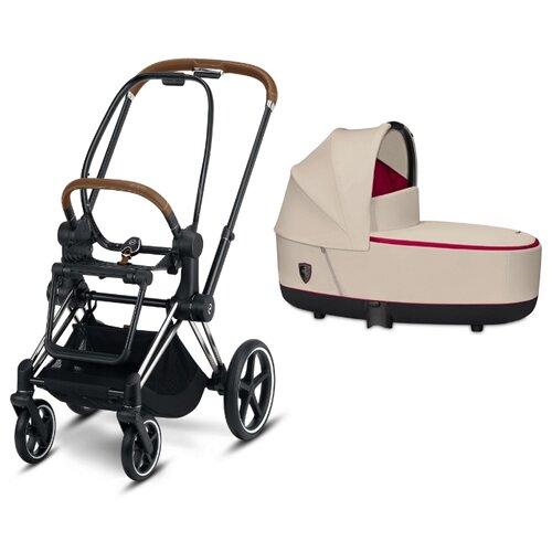 Универсальная коляска Cybex Priam III Ferrari (2 в 1) silver grey/chrome/brown, цвет шасси: серебристый
