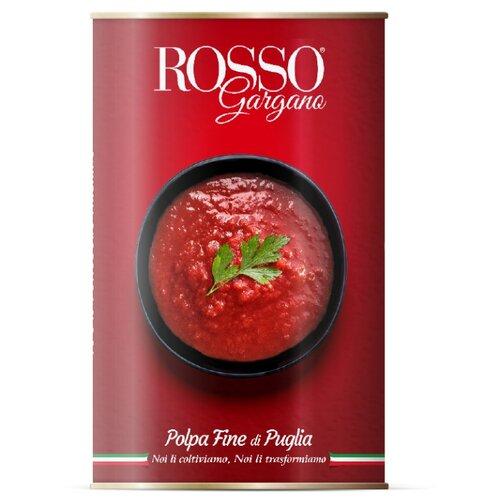 цена Томаты очищенные давленные в собственном соку Rosso Gargano жестяная банка 400 г онлайн в 2017 году