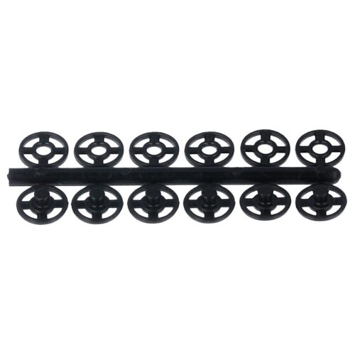 Купить KOH-I-NOOR Кнопки пришивные (MIA1020 №1/2), черный, 7 мм, 24 шт.