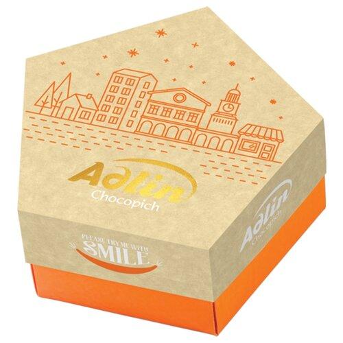 Конфеты Adlin из пашмалы Star Box с миндалем в шоколадной глазури 150 г конфеты из пашмалы adlin ассорти со вкусом дыни клубники и апельсина во фруктовой глазури 350 г