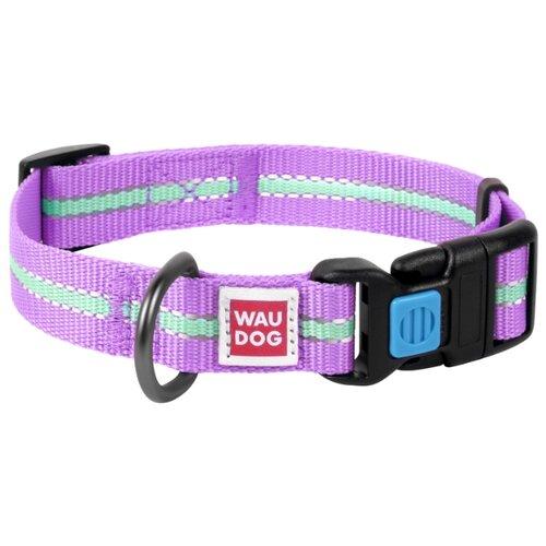 Ошейник WAU DOG Nylon светонакопительный (15 мм) 23-35 см фиолетовый