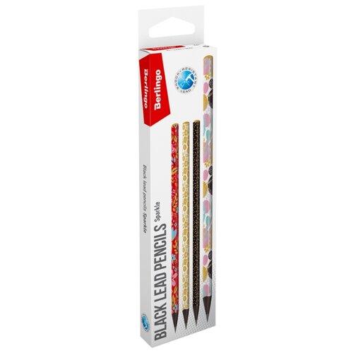 Купить Berlingo Набор чернографитных карандашей Sparkle 12 шт (BP01140_12R), Карандаши