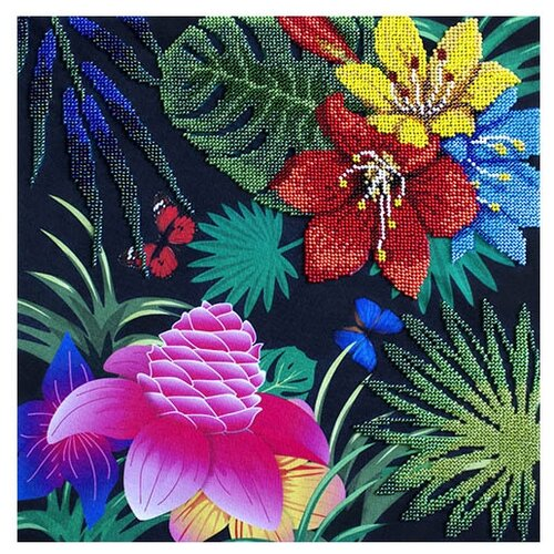 Купить Созвездие Набор для вышивания бисером Райский сад 30 х 30 см (Т-06), Наборы для вышивания