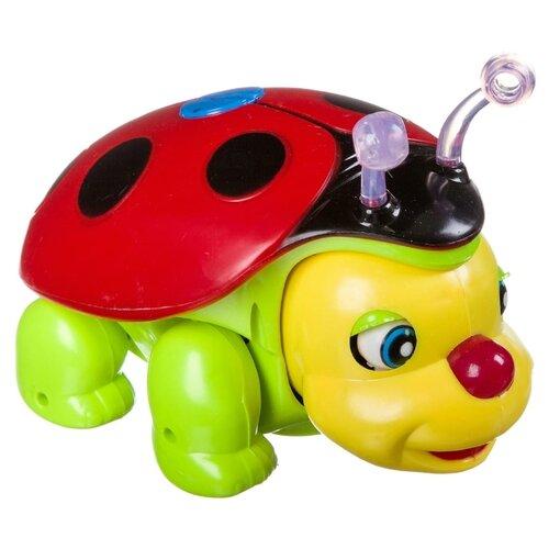 Интерактивная развивающая игрушка Joy Toy Счастливый жучок красный/зеленый/желтый