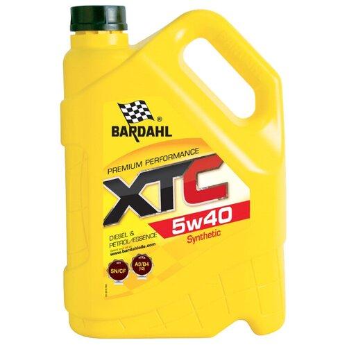 Синтетическое моторное масло Bardahl XTC 5W-40 Sn/Cf, 5 л по цене 2 485