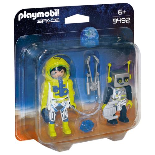 Купить Конструктор Playmobil Space 9492 Астронавт и робот, Конструкторы
