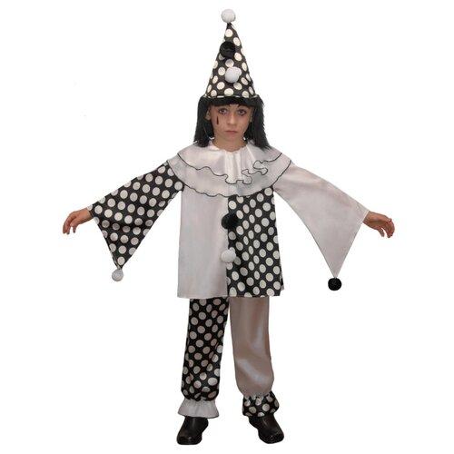 Купить Костюм Elite CLASSIC Пьеро, белый/черный, размер 30 (122), Карнавальные костюмы