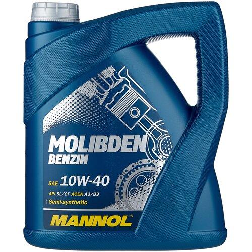 Фото - Полусинтетическое моторное масло Mannol Molibden Benzin 10W-40 4 л минеральное моторное масло mannol universal 15w 40 4 л