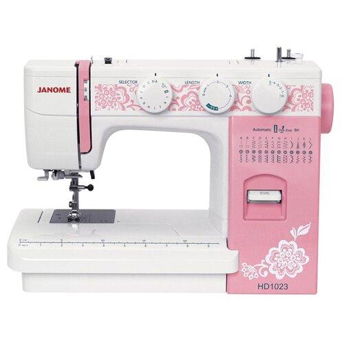 цена на Швейная машина Janome HD1023, белый/розовый