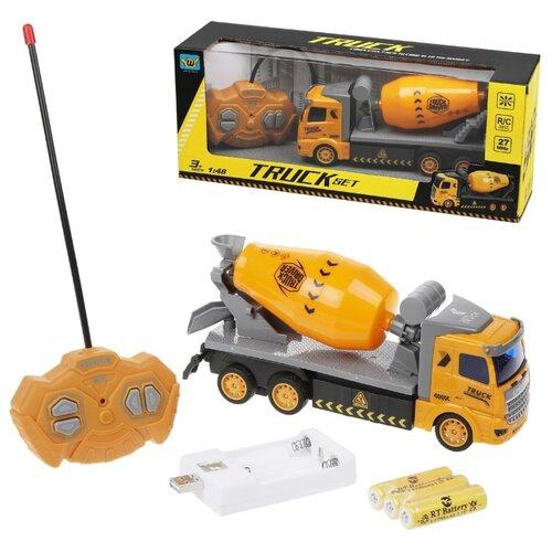 Купить Бетоновоз р/у Наша Игрушка 4 канала, свет, аккумулятор, USB шнур, коробка (WL-52B), Наша игрушка, Радиоуправляемые игрушки