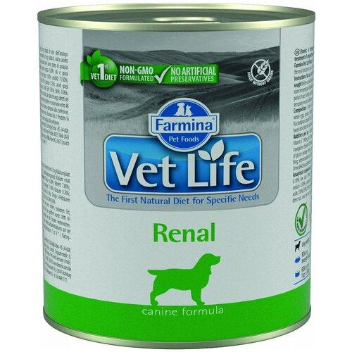 Фото - Влажный корм для собак Farmina Vet Life, при заболеваниях почек 300 г консервы farmina vet life renal canine диета при заболеваниях почек для собак 300г