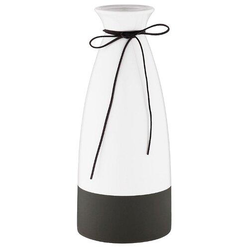 цена Ваза Lefard 495-4202, белый/черный онлайн в 2017 году