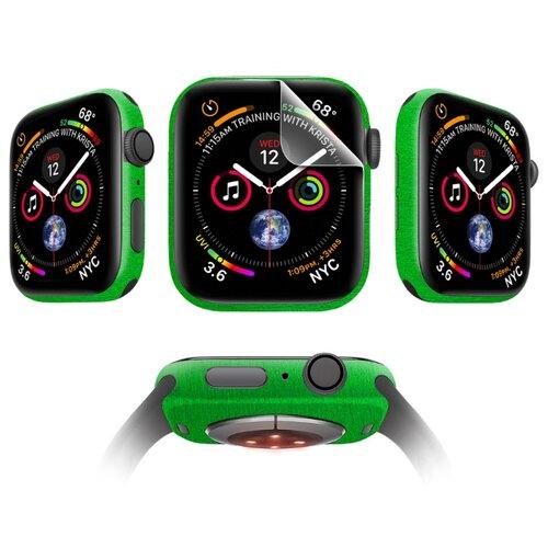 Комплект защитных пленок MOCOLL Apple Watch 42mm для дисплея Глянцевая (2шт) и для корпуса (2шт) Металлик Зеленый