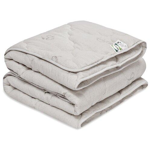 Одеяло Sortex Natura Хлопок, теплое, 200 х 220 см (белый/серый)