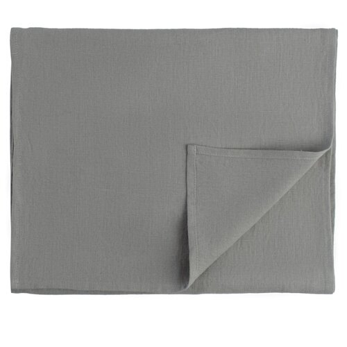 Дорожка на стол Tkano из умягченного льна серого цвета Essential, 45х150 см