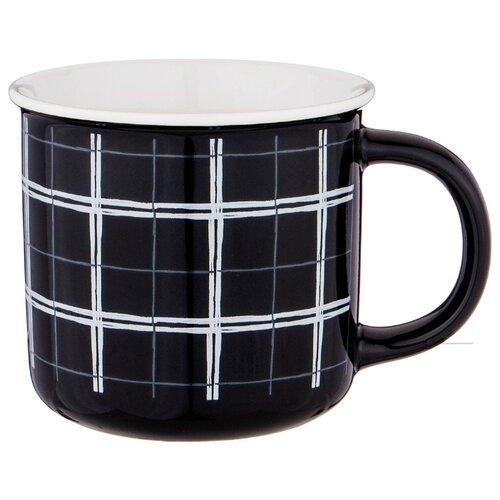 Кружка lefard break time черная клетка Lefard (756-267)