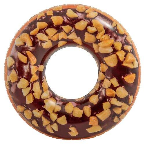Круг Intex Шоколадный пончик 114x114 см коричневый/оранжевый