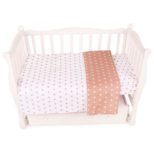 Фото - Amarobaby комплект в кроватку Baby Boom Звезды (3 предмета) коричневый amarobaby комплект в кроватку baby boom короны 3 предмета серый