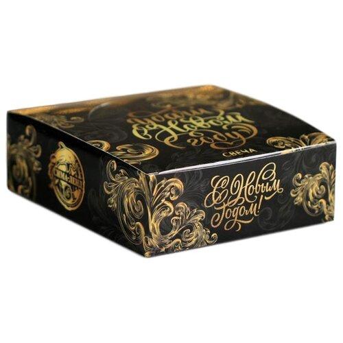 Набор свечей Зимнее волшебство Удачи в Новом году (4702488) черный/золотой 4 шт.