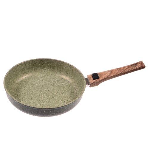 Сковорода Panairo OliverStone O-24-G-S 24 см, съемная ручка, зеленый