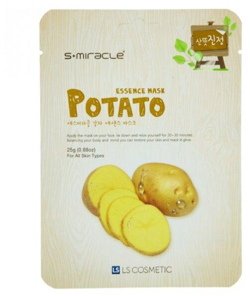 LS Cosmetic тканевая маска s+miracle с экстрактом картофеля