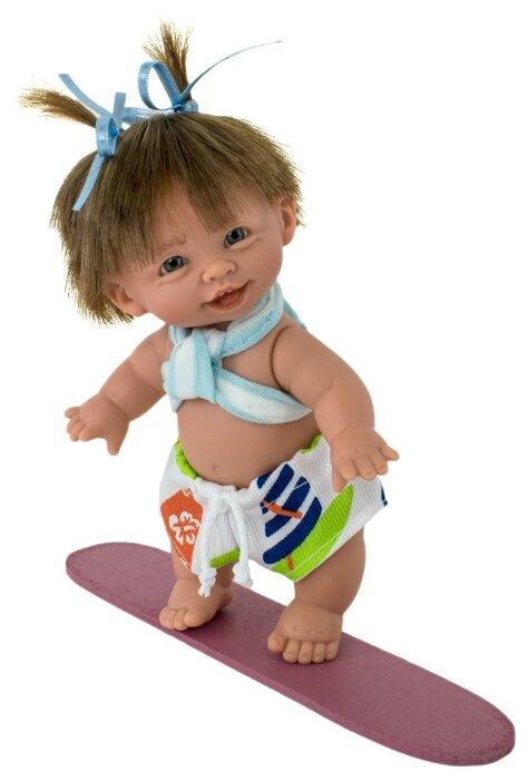 Кукла Lamagik Супер-девочка в светлых шортах с оранжевым принтом, 18 см, 406