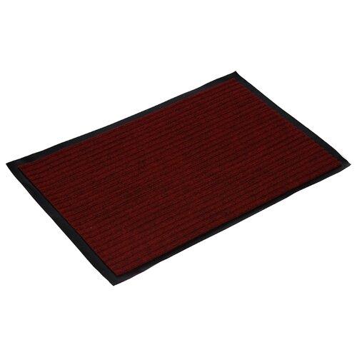 Придверный коврик VORTEX влаговпитывающий ребристый, размер: 0.6х0.4 м, красный коврик придверный vortex palermo цвет красный зеленый 50 х 80 см 22454