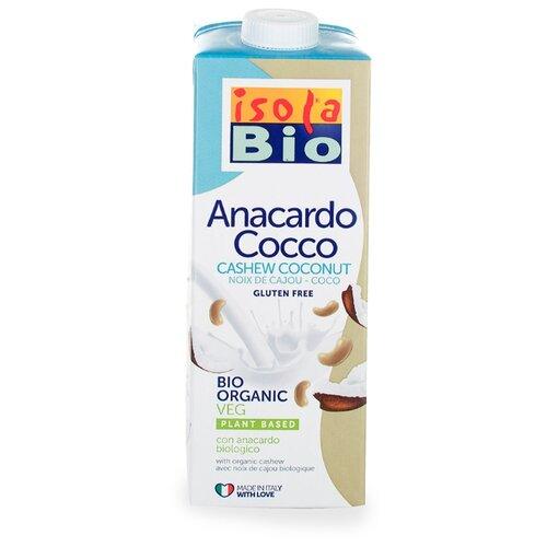 Ореховый напиток Isola Bio Anacardo Cocco из кешью с кокосовым молоком без глютена 1 л