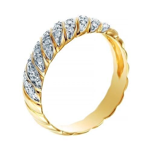 цена на JV Кольцо с бриллиантами из желтого золота AAR-2181-YG, размер 17