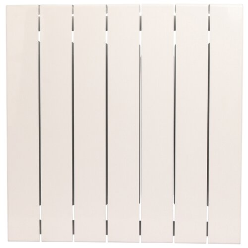 Радиатор секционный биметаллический Rifar SUPReMO 500 x7 теплоотдача 1414 Вт, 7 секций, подключение диагональное (подача справа) RAL 9016 radena 500 85 7 секций