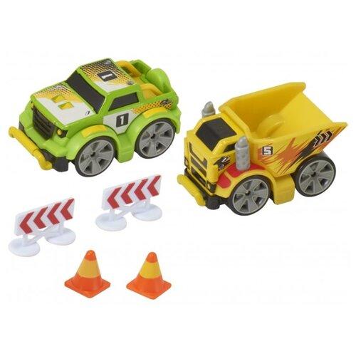 Купить Набор машин Teamsterz Мега грузовики (1373265) желтый/зеленый, Машинки и техника