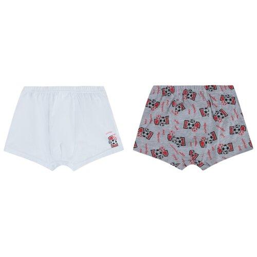 Купить Трусы Leader Kids 2 шт., размер 98-104, белый/серый, Белье и пляжная мода