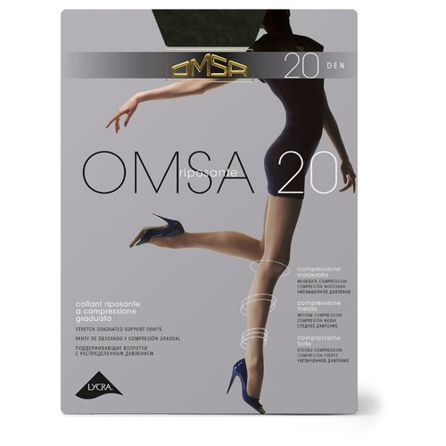 Колготки Omsa Omsa 20 den, размер 2-S, fumo (серый) колготки omsa omsa 70 den размер 2 s fumo серый