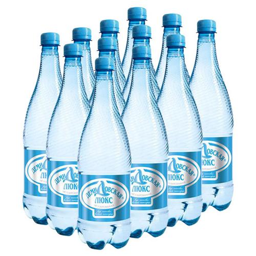 Вода питьевая Демидовская Люкс негазированная, ПЭТ, 12 шт. по 0.5 л