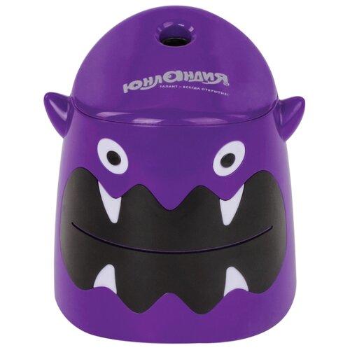 Купить Юнландия Точилка электрическая Монстрик 228428 фиолетовый, Точилки