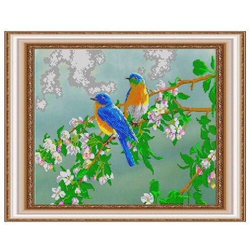 Светлица Набор для вышивания бисером Птички 39,1 х 31,1 см (377)