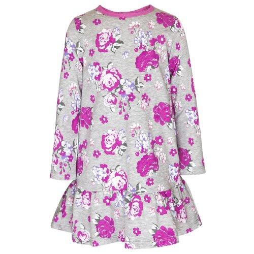 Купить Платье M&D размер 110, серый меланж, Платья и сарафаны