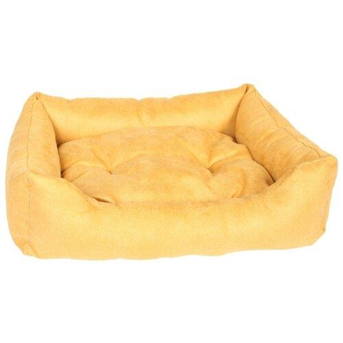 Лежак для собак и кошек PRIDE Ранчо 60х50х23 см горчичный