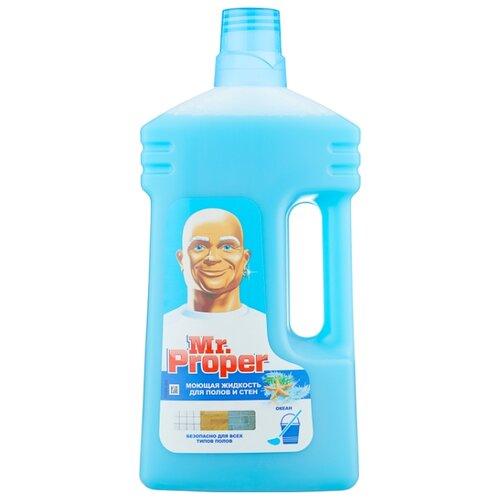 Mr. Proper Моющая жидкость для полов и стен Океан 1 лДля мебели, ковров и напольных покрытий<br>