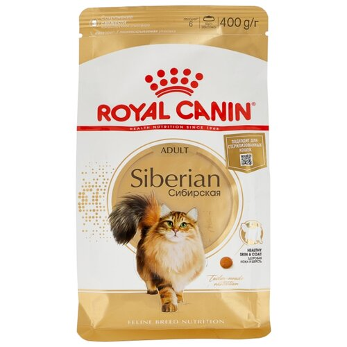 Корм для кошек Royal Canin Сибирская 400 г cat wet food royal canin ultra light pieces in jelly 24 85 g cat wet food royal canin aging 12 pieces in jelly 85 g 24