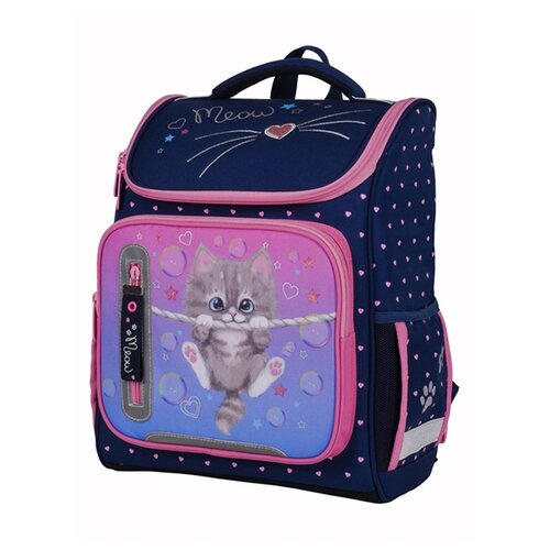 Купить Berlingo Ранец Classic Meow kitty, розовый/синий, Рюкзаки, ранцы