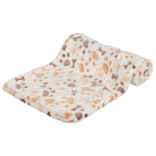 Подстилка-плед для собак TRIXIE Lingo Blanket 75х50 см белый/бежевый подстилка плед для собак и кошек trixie bendson vital 80х55 см бежевый
