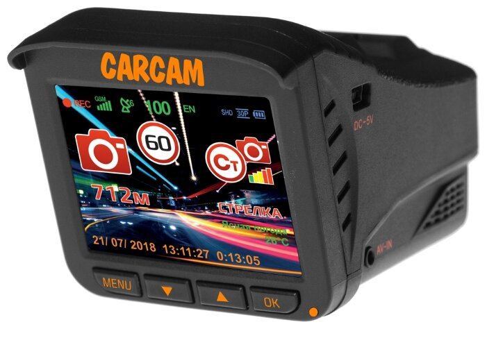 Автомобильный видеорегистратор с радар-детектором 3 в 1 CARCAM COMBO 5 Lite