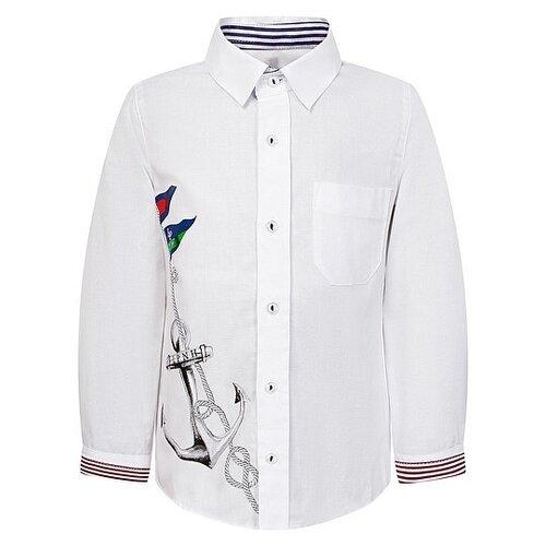 Рубашка Lapin House размер 86, белый