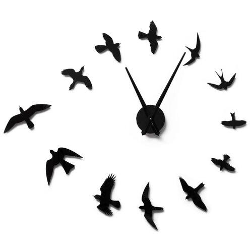 Часы настенные кварцевые 3D Decor Air Standart 100 см черный