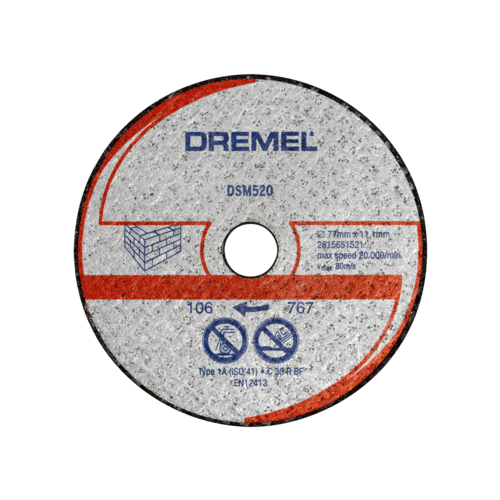 цена на Диск отрезной 77x11.1 Dremel DSM520 2 шт.